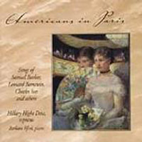 Americans in Paris - Songs / Hilary Hight Daw, Barbara Efird Music CD